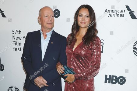Stock Picture of Bruce Willis and Emma Heming