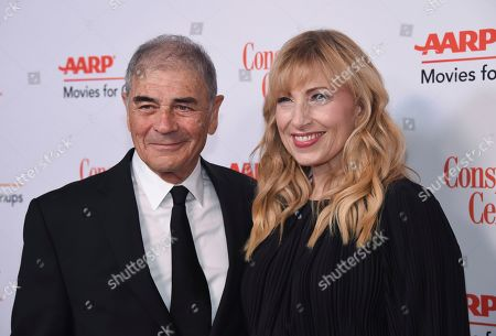 """Robert Forster, Denise Grayson. Robert Forster, left, and Denise Grayson attend the 18th Annual Movies For Grownups Awards at Beverly Wilshire Hotel, in Beverly Hills, Calif. Forster, the handsome character actor who got a career resurgence and Oscar-nomination for playing bail bondsman Max Cherry in """"Jackie Brown,"""" has died at age 78. Forster's agent Julia Buchwald says he died, at home in Los Angeles of brain cancer"""