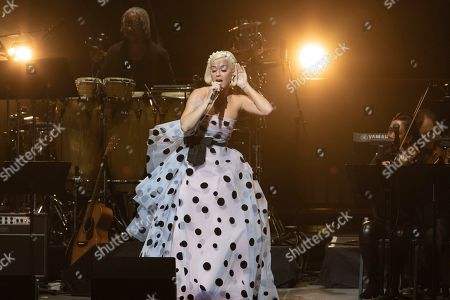 "Katy Perry performs on stage during the ""Silence the Violence"" Benefit Concert held at The Anthem, in Washington"