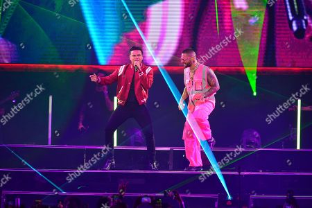 Editorial photo of Maluma in concert at the American Airlines Arena, Miami, USA - 11 Oct 2019