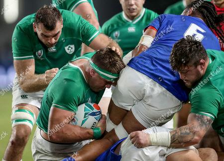 Ireland vs Samoa. Ireland's Tadhg Beirne, CJ Stander and Andrew Porter