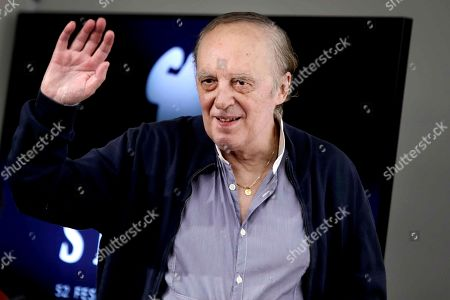 Dario Argento poses for the media during the presentation press conference of his film 'Belle Bimbe Addormentale' at the 52nd Sitges International Fantastic Film Festival of Catalonia, in Sitges near Barcelona, Spain, 12 October 2019. The film festival runs from 03 to 13 October.