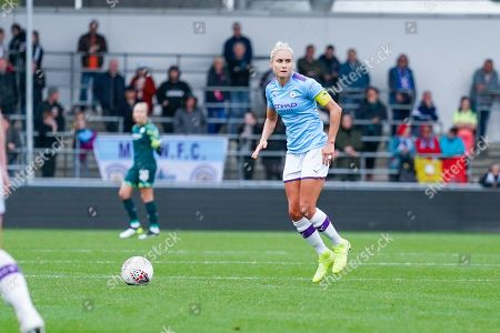 Manchester City Women defender Steph Houghton (captain) (6) in action during the FA Women's Super League match between Manchester City Women and BIrmingham City Women at the Sport City Academy Stadium, Manchester