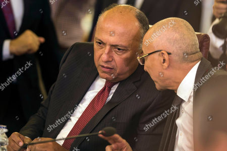 Editorial image of Arab League emergency meeting on Syria, Cairo, Egypt - 12 Oct 2019