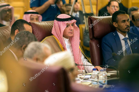 Adel al-Jubeir, Saudi Minister of State for Foreign Affairs, attends an Arab League states' foreign ministers emergency meeting to discuss Syria situation, at the Arab League headquarters in Cairo, Egypt, 12 October 2019. Turkey has launched an offensive targeting Kurdish forces in north-eastern Syria, days after the US withdrew troops from the area.