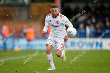 Stock Image of Jordan Clark of Accrington during the EFL Sky Bet Championship match between Huddersfield Town and Hull City at the John Smiths Stadium, Huddersfield