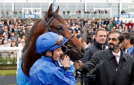 PINATUBO (William Buick) with Sheikh Mohammed and Charlie Appleby after The Darley Dewhurst Stakes Newmarket