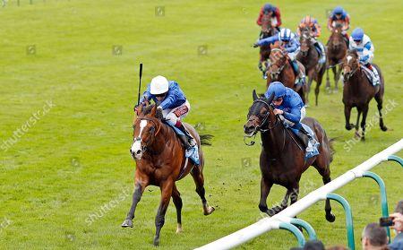 MILITARY MARCH (Oisin Murphy) beats AL SUHAIL (right) in The Dubai Autumn Stakes Newmarket
