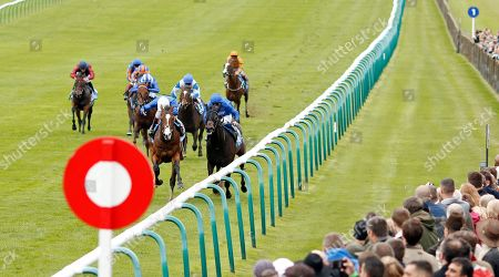 MILITARY MARCH (left, Oisin Murphy) beats AL SUHAIL (right) in The Dubai Autumn Stakes Newmarket