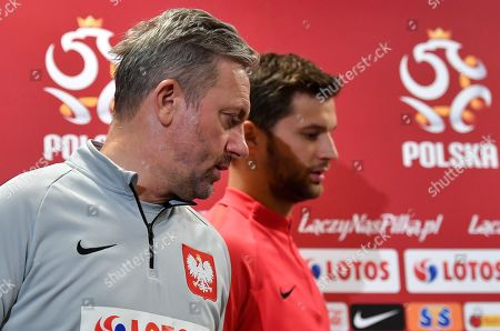 Editorial picture of Polish national soccer team press conference, Warsaw, Poland - 12 Oct 2019