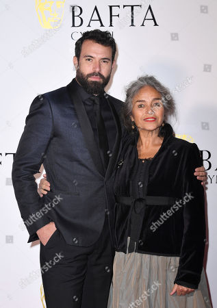 Stock Photo of Tom Cullen and mother