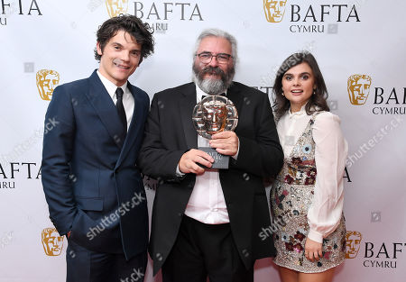 Stock Picture of Madoc Roberts - Editing - Anorac with Edward Bluemel and Gwyneth Keyworth