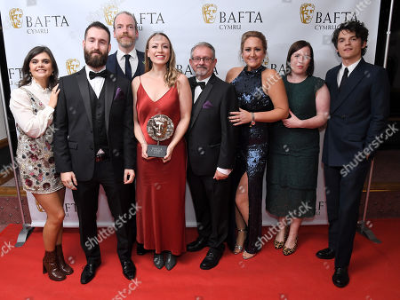 Stock Picture of Catrin Jones, Llinos Griffin-Williams and Claire Hill - Factual Series - Velindre - The Hospital of Hope with Colin, Louis and Mark, Edward Bluemel and Gwyneth Keyworth