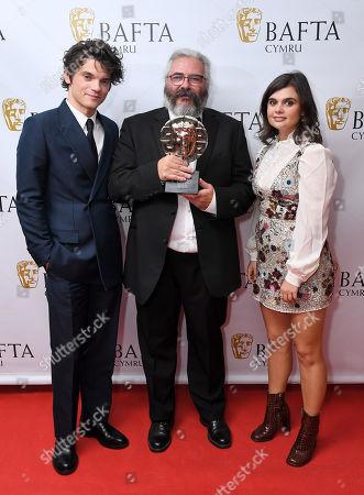 Editorial photo of Exclusive - British Academy Cymru Awards, Press Room, St David's Hall, Cardiff, Wales, UK - 13 Oct 2019