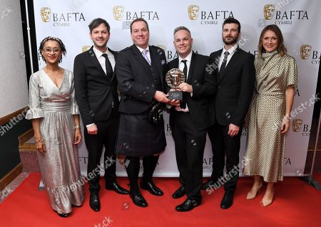 Stock Image of Pete Rogers, Christian Lett, Anthony Williams and Llyr Williams - Bait Studio - Special and Visual Effects - Apostle with Suzanne Packer and Cath Ayers