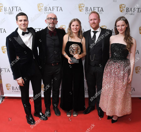 Editorial photo of Exclusive - British Academy Cymru Awards, Press Room, St David's Hall, Cardiff, Wales, UK - 13 Oct 2019