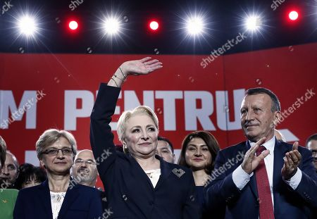Editorial picture of Dancila speaks at Social Democratic Party rally, Bucharest, Romania - 12 Oct 2019