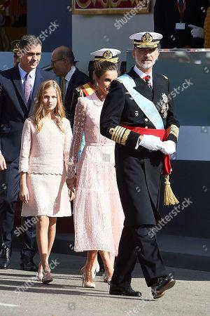 King Felipe VI, Queen Letizia, Princess Leonor, Infanta Sofia