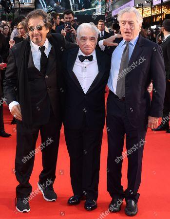 Al Pacino, Martin Scorsese and Robert De Niro