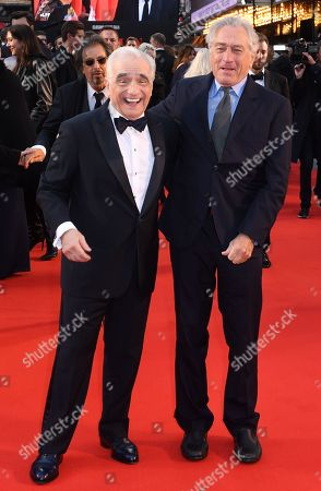 Martin Scorsese and Robert De Niro, with Al Pacino behind