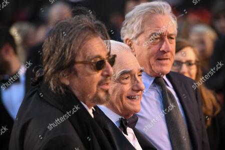 Stock Picture of Al Pacino, Martin Scorsese and Robert De Niro
