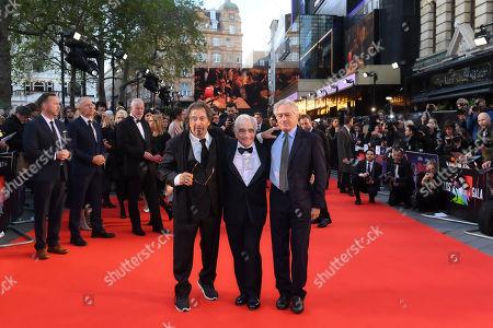 Stock Image of Al Pacino, Martin Scorsese and Robert De Niro