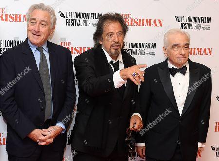 Robert De Niro, Al Pacino and Martin Scorsese