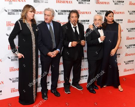 Jane Rosenthal, Robert De Niro, Al Pacino, Martin Scorsese and Emma Tillinger Koskoff