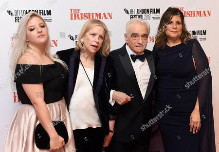 Francesca Scorsese, Helen Morris, Martin Scorsese and Cathy Scorsese