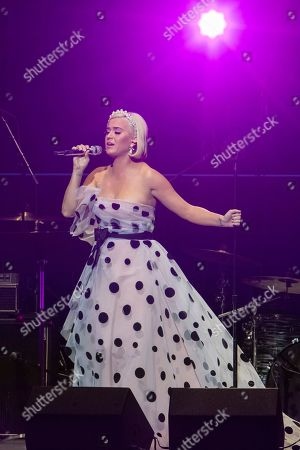 "Stock Image of Katy Perry performs on stage during the ""Silence the Violence"" Benefit Concert held at The Anthem, in Washington"