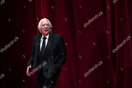 US actor Donald Sutherland arrives at the opening ceremony of the 11th Lumiere Festival, in Lyon, central France