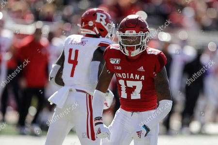Indiana defensive back Raheem Layne reacts after tackling Rutgers running back Aaron Young (4) during the first half of an NCAA college football game, in Bloomington, Ind