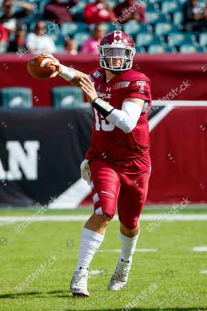 Temple quarterback Anthony Russo (15) throws a pass during an NCAA college football against Memphis, in Philadelphia