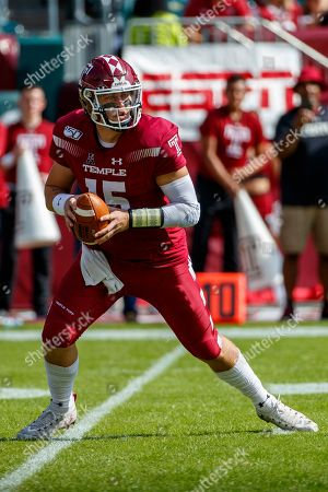 Temple quarterback Anthony Russo (15) in action during the first half of an NCAA college football against Memphis, in Philadelphia. Temple won 30-28