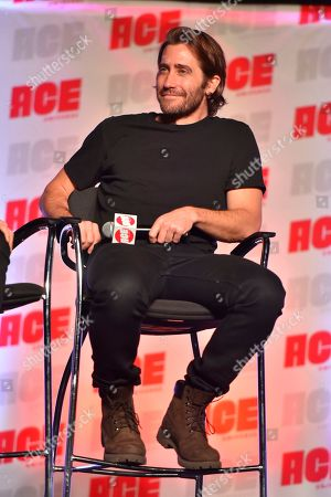 Jake Gyllenhaal participates during a Q&A panel on day two at the Ace Comic-Con at the Donald E Stephens Convention Center, in Rosemont, Ill