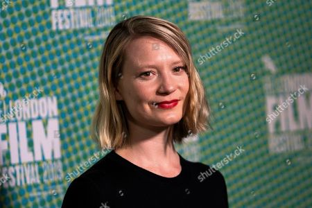 Stock Photo of Mia Wasikowska arrives to the premiere of the movie 'Judy and Punch' at the 2019 BFI London Film Festival, in London, Britain, 12 October 2019. The British Film Institute festival runs from 02 to 13 October.