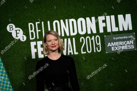 Stock Image of Mia Wasikowska arrives to the premiere of the movie 'Judy and Punch' at the 2019 BFI London Film Festival, in London, Britain, 12 October 2019. The British Film Institute festival runs from 02 to 13 October.