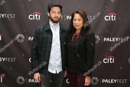 Stock Image of John Magaro and Anne del Castillo (Commissioner; Mayor's Office of Media and Entertainment)