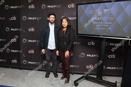 John Magaro and Anne del Castillo (Commissioner; Mayor's Office of Media and Entertainment)