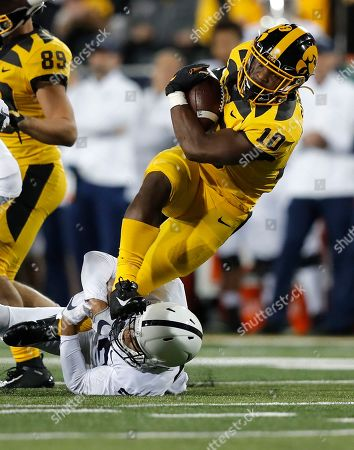 Editorial picture of Penn St Iowa Football, Iowa City, USA - 12 Oct 2019