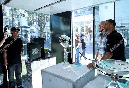 Victor Cruz attends the Tiffany & Co. trophy display at Tiffany men's Pop-Up shop, held at The Grove, Los Angeles, CA @tiffanyandco #TiffanyMens