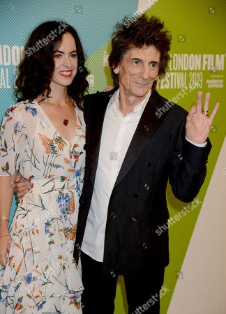 Stock Picture of Sally Wood and Ronnie Wood