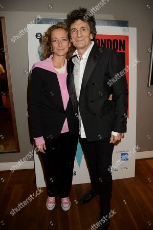 Stock Picture of Leah Wood and Ronnie Wood