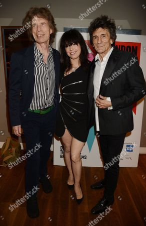 Stock Image of Mick Jagger, Imelda May and Ronnie Wood