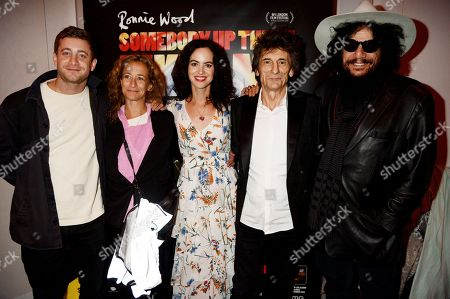 Tyrone Wood, Leah Wood, Sally Wood, Ronnie Wood and Don Was