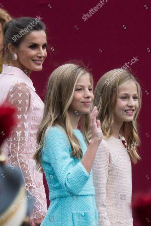 Queen Letizia, Princess Leonor and Infanta Sofia