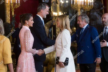 Queen Letizia, King Felipe VI and Maria Dolores de Cospedal