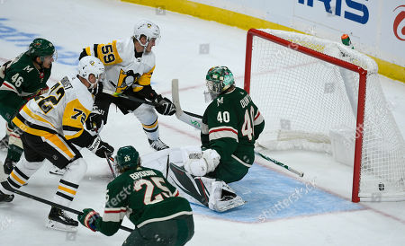 Editorial picture of Penguins Wild Hockey, St. Paul, USA - 12 Oct 2019