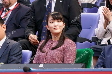 Japanese Princess Mako watches men's single final at Ariake Colosseum