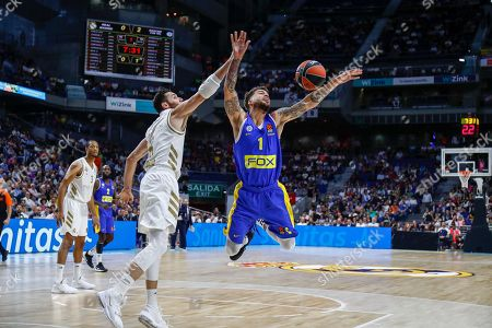 Rodolfo 'Rudy' Fernandez Farres of Spain and Real Madrid and Wilbekin of United Estates and Maccabi